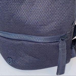 lululemon athletica Bags - Lululemon | Go Lightly Mesh Rucksack Black Backpak